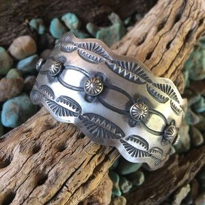 Jewelry - Navajo Sterling Silver Cuff By Chimney Butte